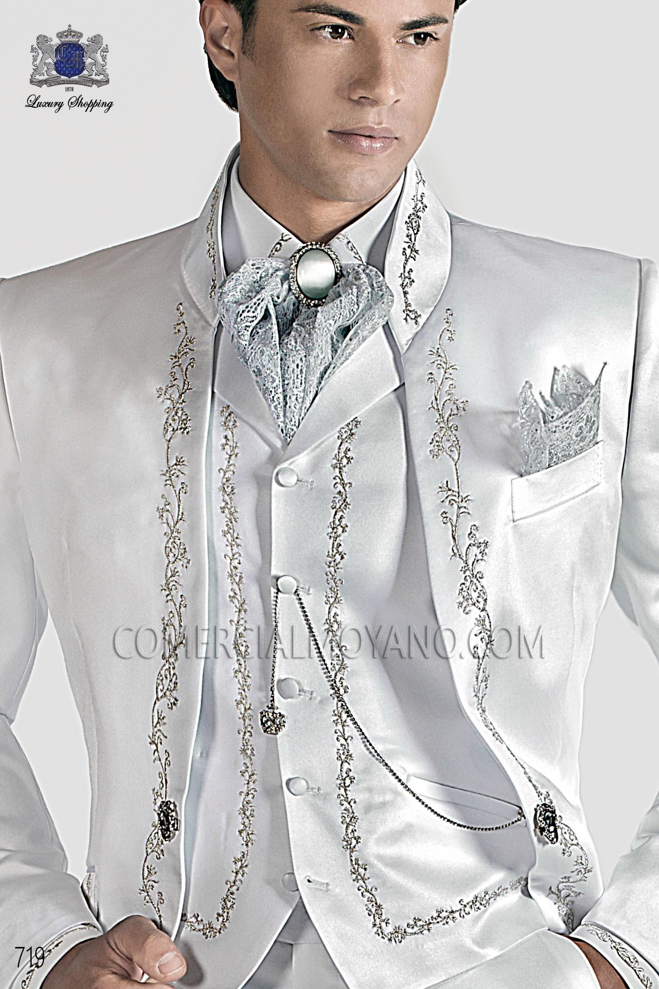 Traje barroco de novio blanco modelo: 719 Ottavio Nuccio Gala colección Barroco