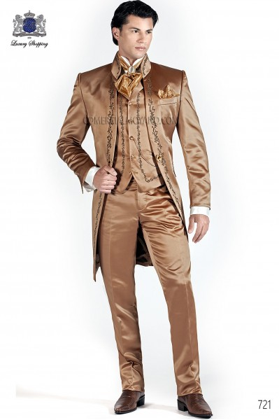 Italian old gold wedding suit