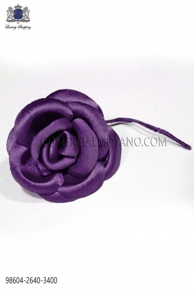Purple satin flower 98604-2640-3400 Ottavio Nuccio Gala.
