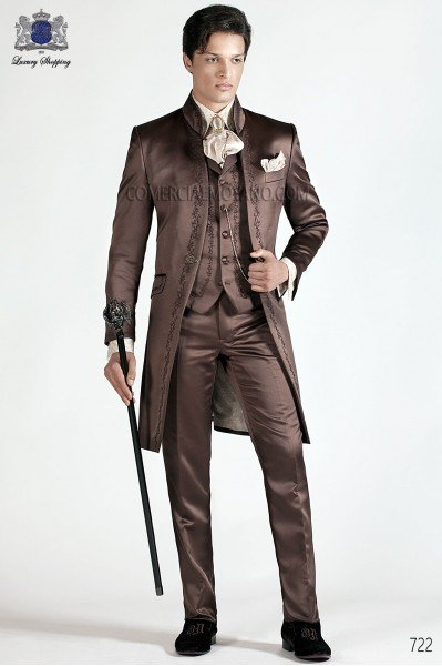Italian brown wedding suit