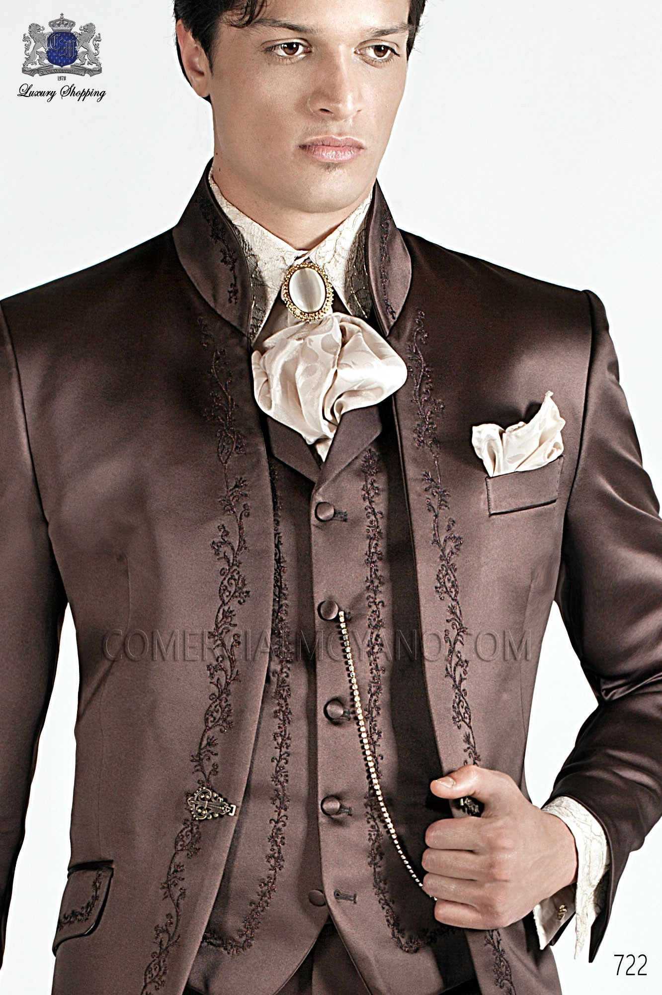 Baroque brown men wedding suit, model: 722 Ottavio Nuccio Gala ...