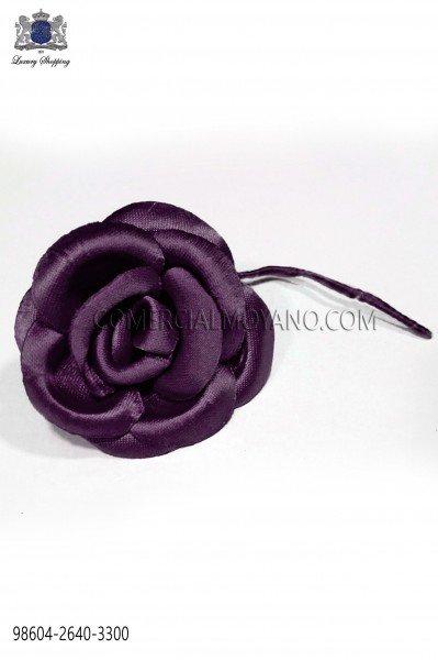 Prune satin flower 98604-2640-3300 Ottavio Nuccio Gala.