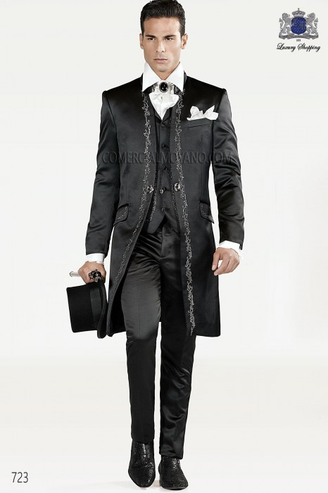 Italian black wedding suit
