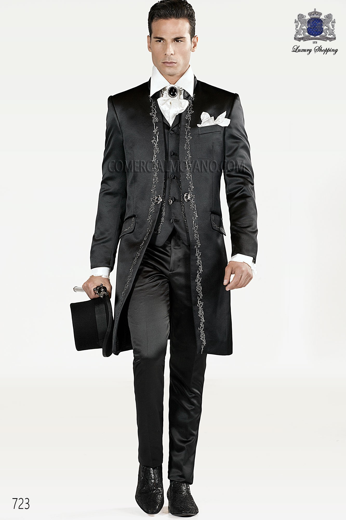 Traje de novio barroco negron modelo: 723 Ottavio Nuccio Gala colección 2017 Barroco