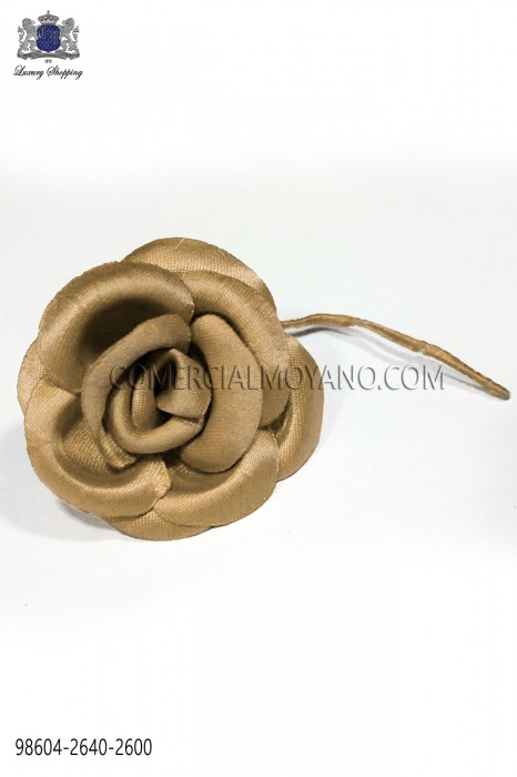 Golden satin flower 98604-2640-2600 Ottavio Nuccio Gala.