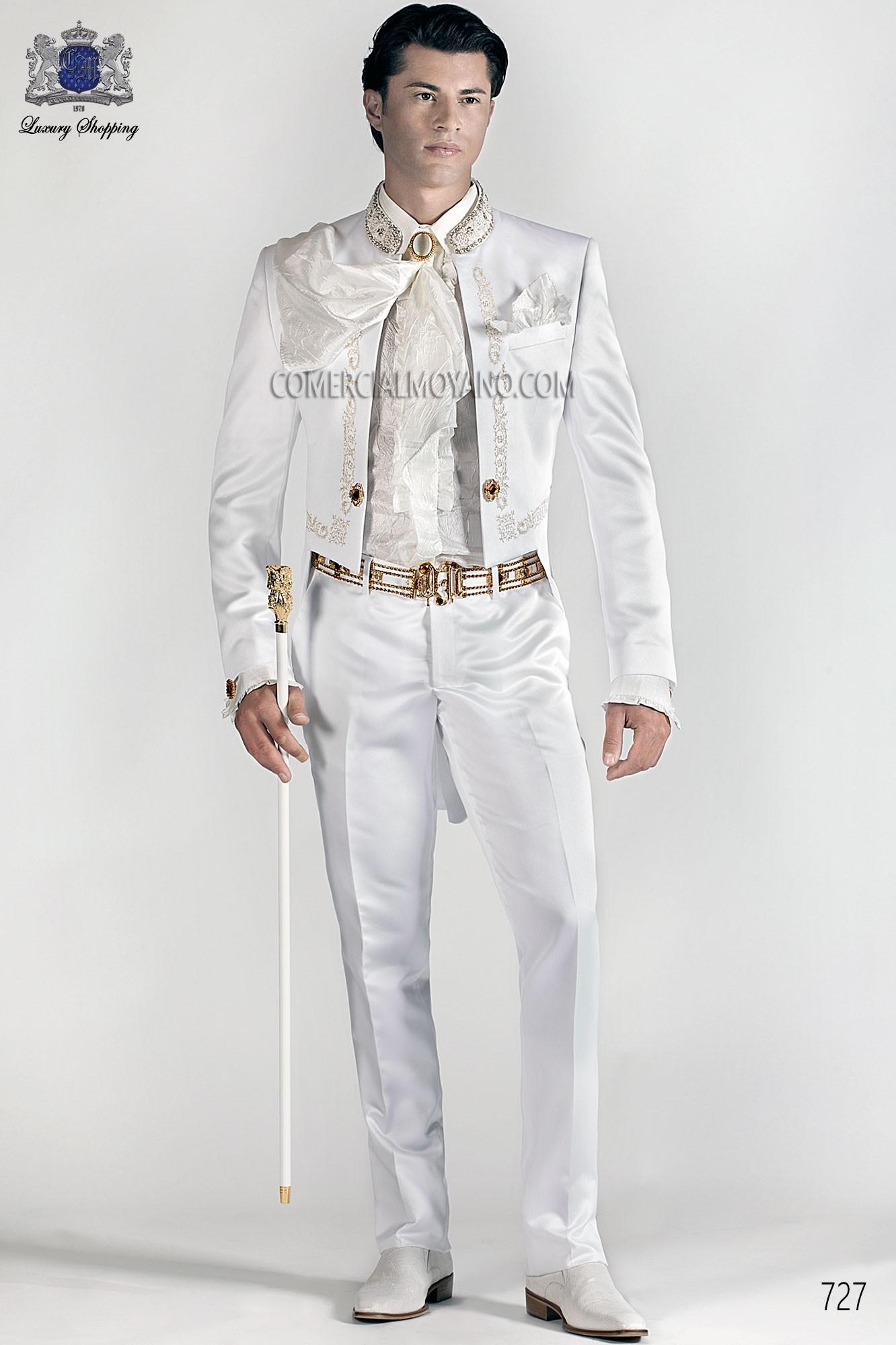 Traje de novio barroco blanco modelo: 727 Ottavio Nuccio Gala colección 2017 Barroco