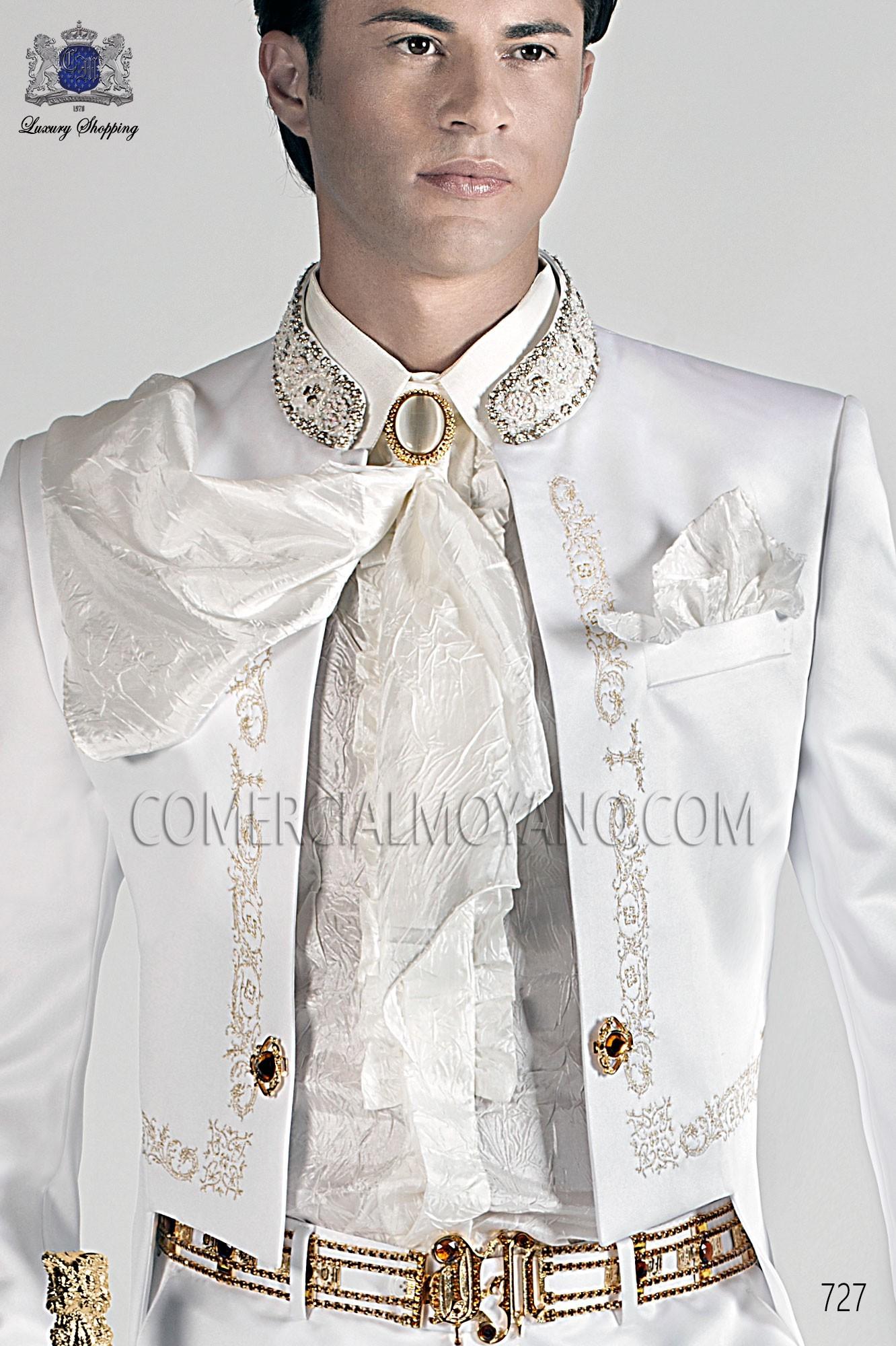 Traje barroco de novio blanco modelo: 727 Ottavio Nuccio Gala colección 2017 Barroco
