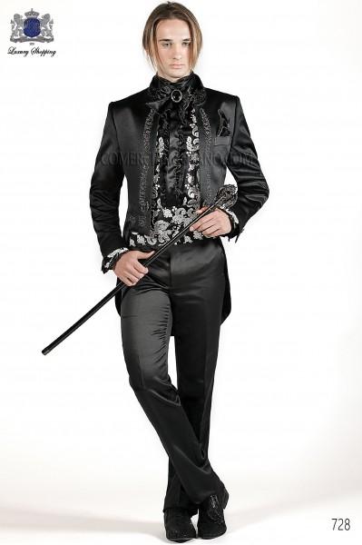 Italian black wedding suit
