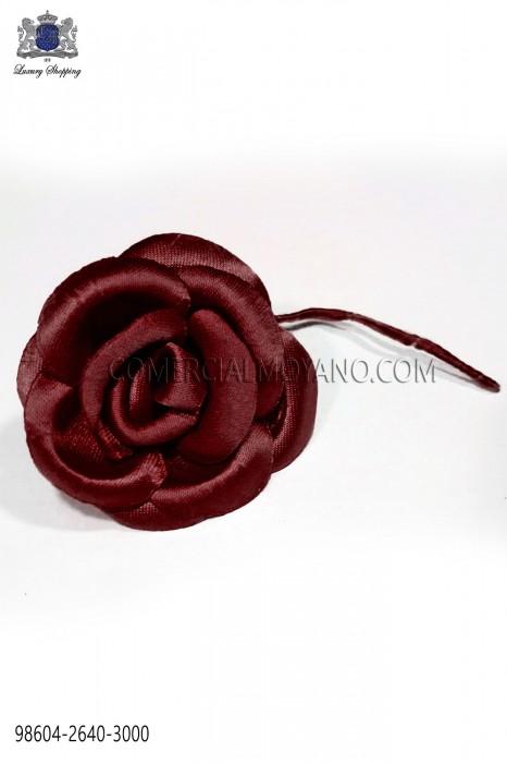 Dark burgundy satin flower 98604-2640-3000 Ottavio Nuccio Gala.