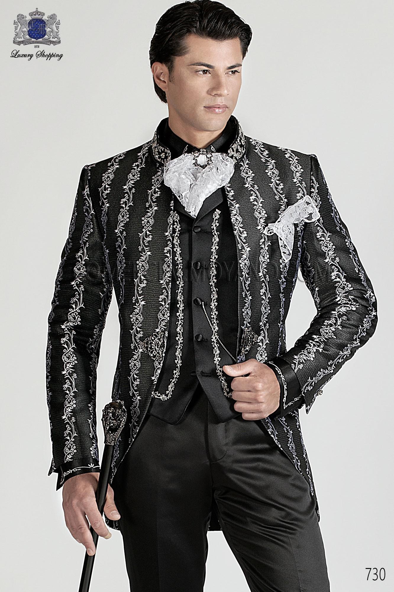 Traje de novio barroco negro y plata modelo: 730 Ottavio Nuccio Gala colección Barroco