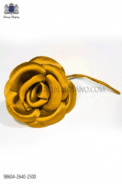 Yellow satin flower 98604-2640-2500 Ottavio Nuccio Gala.