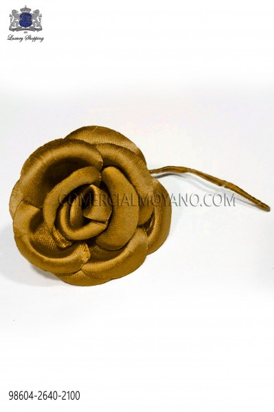 Old gold satin flower 98604-2640-2100 Ottavio Nuccio Gala.