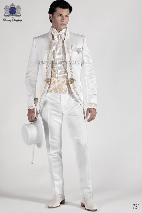 Italian bespoke white wedding suit style 731 Ottavio Nuccio Gala.