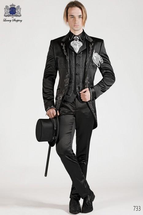 Italian bespoke black wedding suit style 733 Ottavio Nuccio Gala.