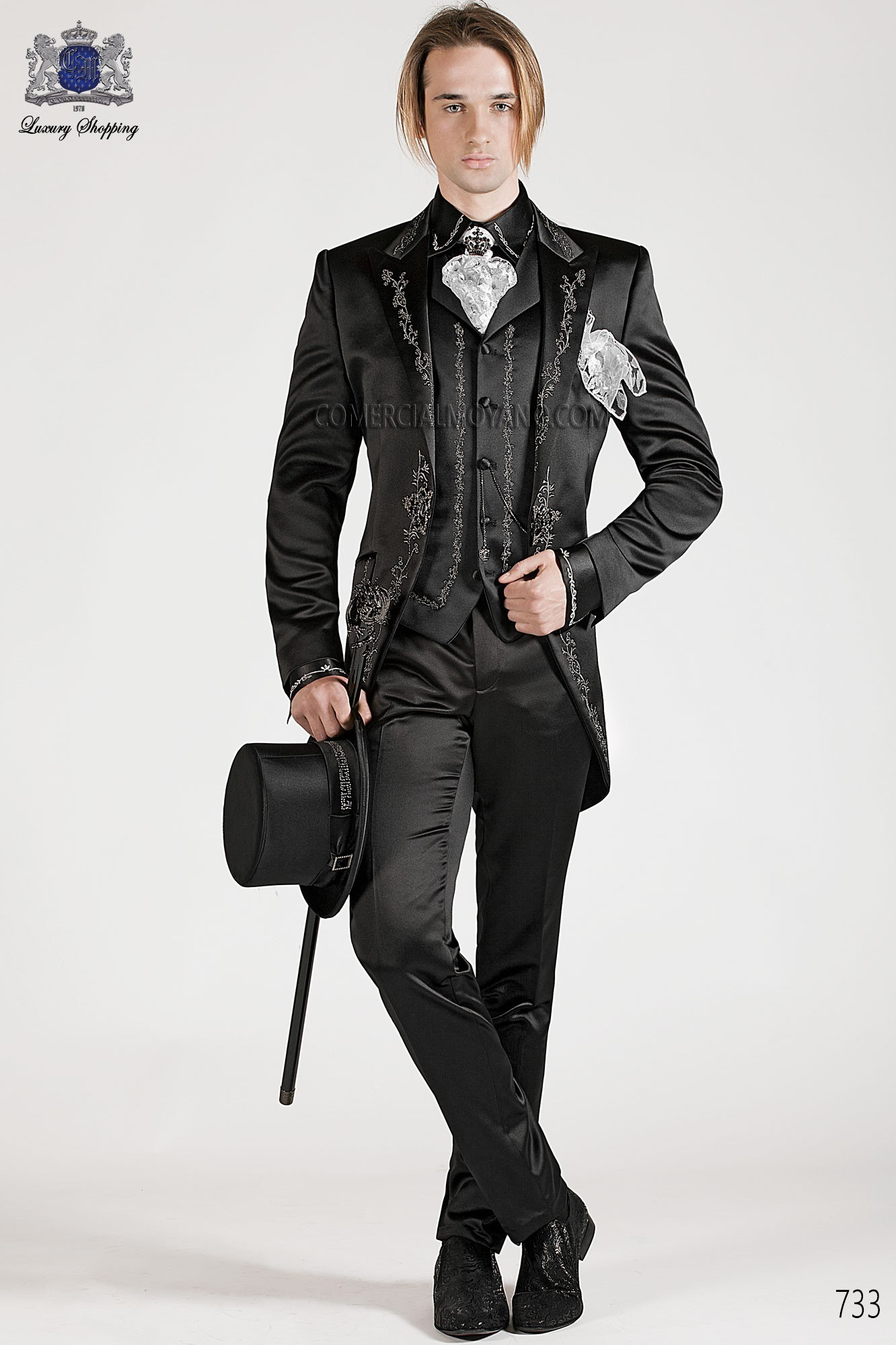Traje de novio barroco negro modelo: 733 Ottavio Nuccio Gala colección Barroco