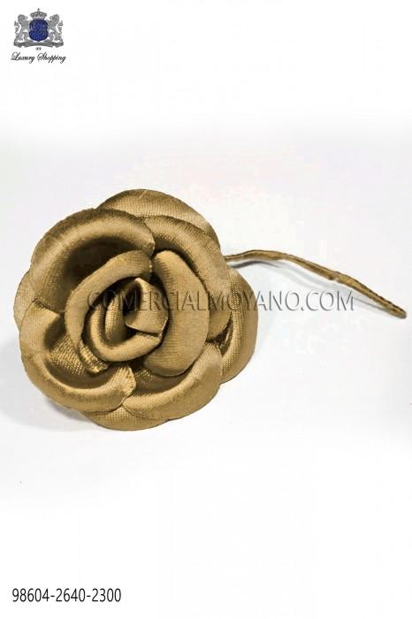 Light bronze satin flower 98604-2640-2300 Ottavio Nuccio Gala.