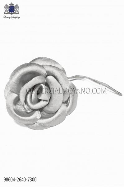 Pearl gray satin flower 98604-2640-7300 Ottavio Nuccio Gala.
