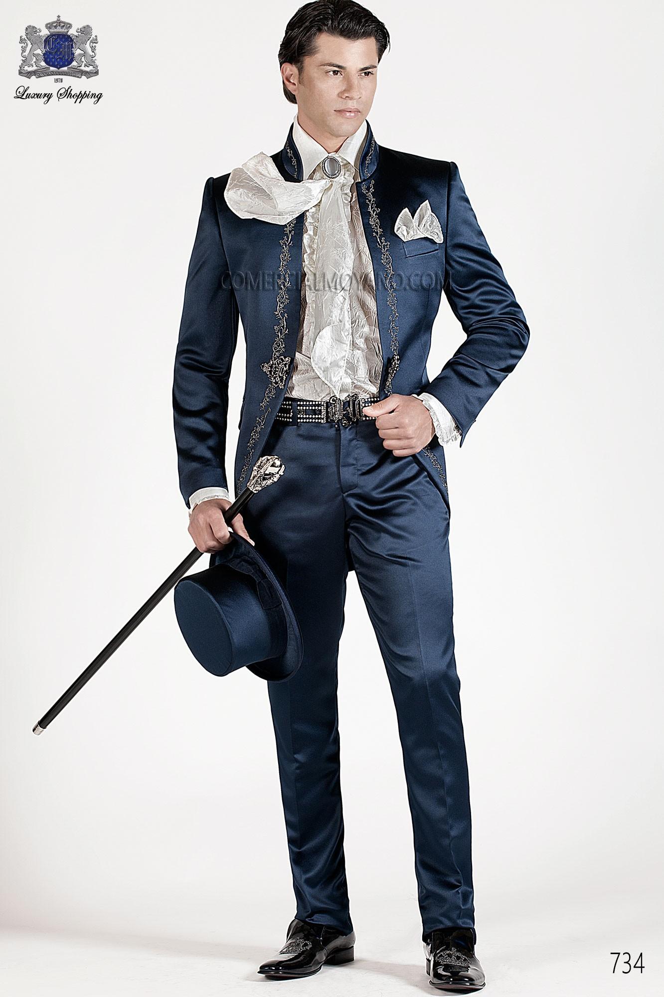 Traje de novio barroco azul modelo: 734 Ottavio Nuccio Gala colección Barroco