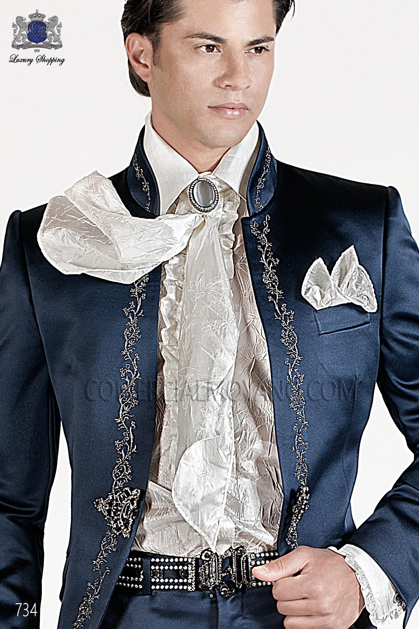 Traje barroco de novio azul modelo: 734 Ottavio Nuccio Gala colección Barroco