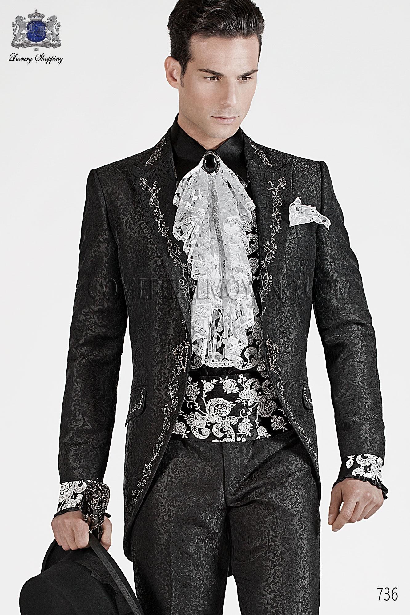 Traje de novio barroco negro modelo: 736 Ottavio Nuccio Gala colección Barroco