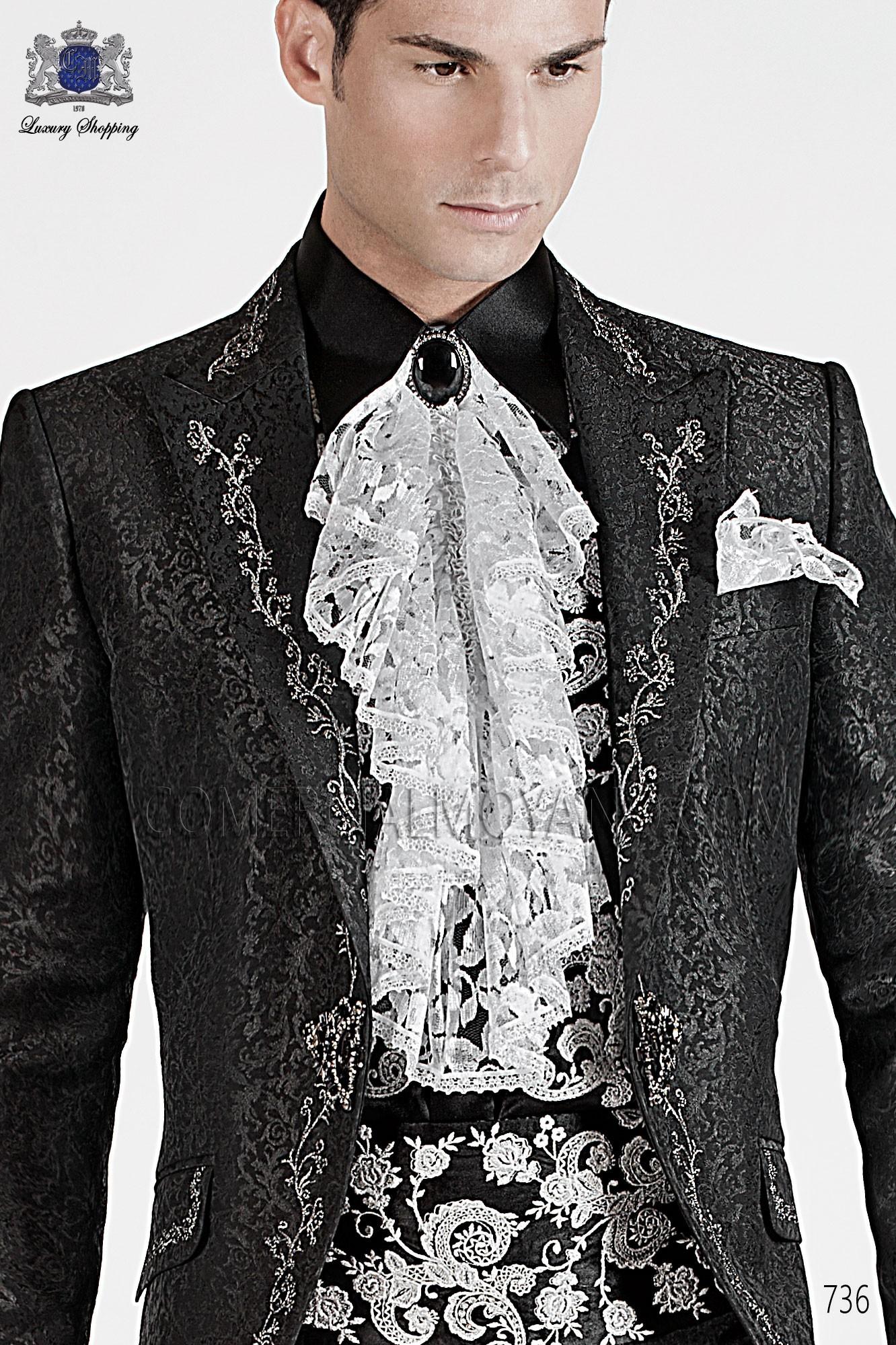 Traje barroco de novio negro modelo: 736 Ottavio Nuccio Gala colección Barroco