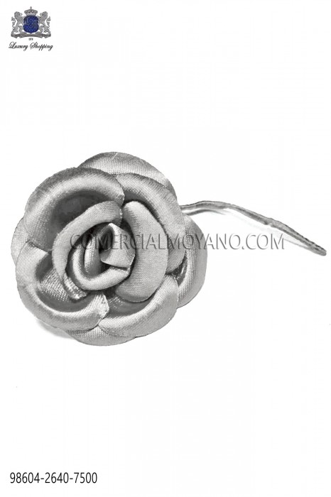 Gray satin flower 98604-2640-7500 Ottavio Nuccio Gala.