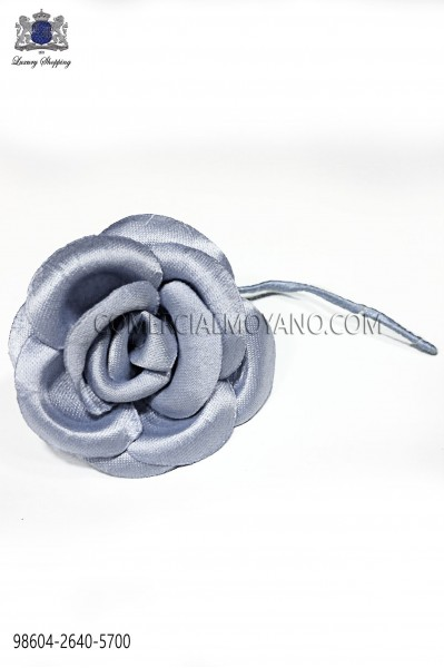 Steel blue satin flower 98604-2640-5700 Ottavio Nuccio Gala.