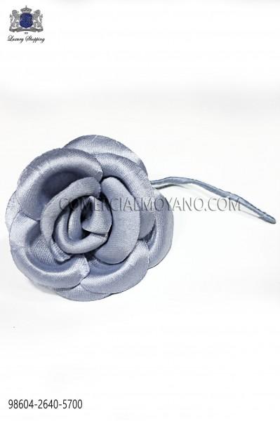 Steel blue satin flower 98604-2640-5700 Ottavio Nuccio Gala.