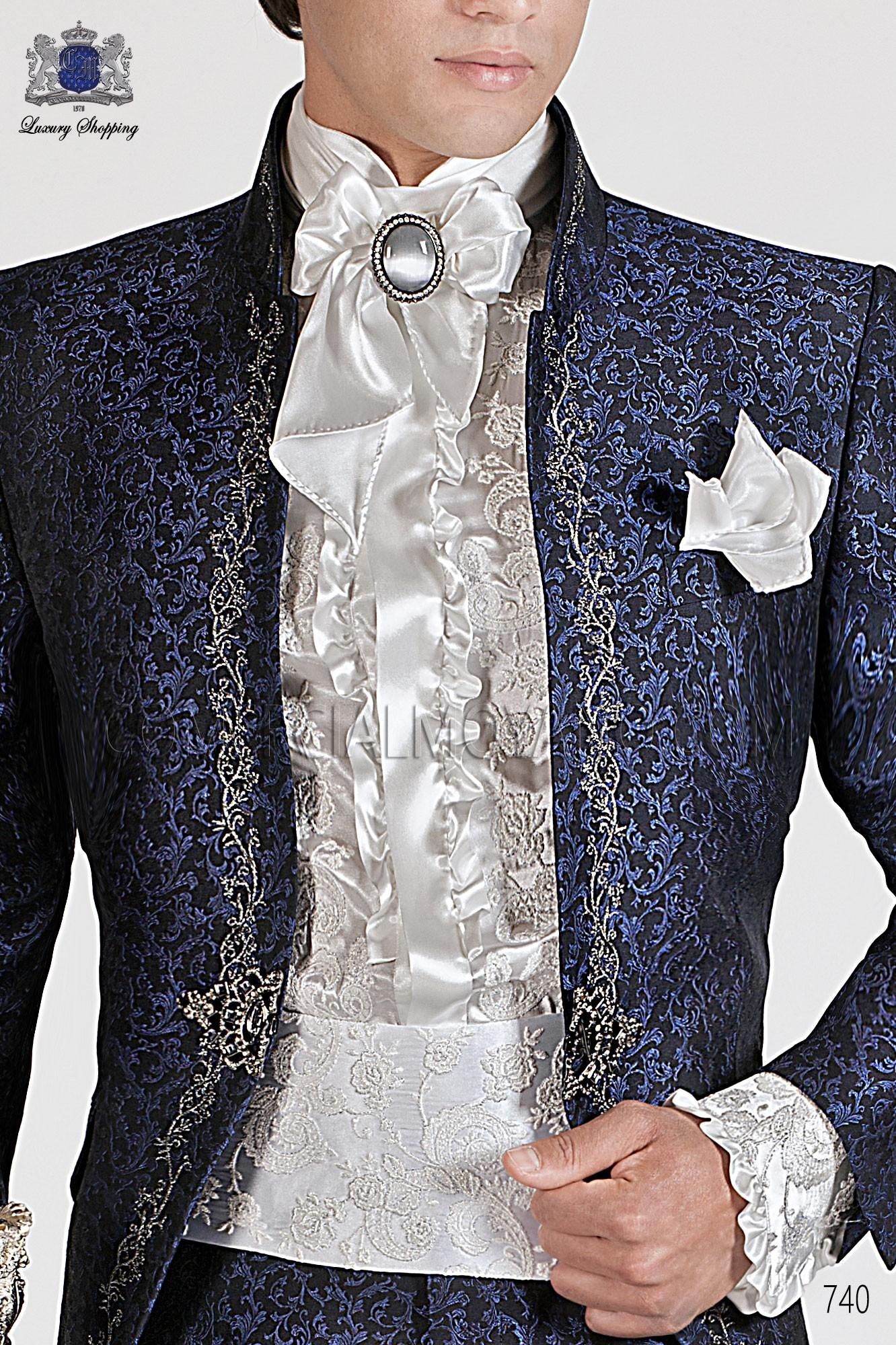 Traje barroco de novio azul modelo: 740 Ottavio Nuccio Gala colección Barroco