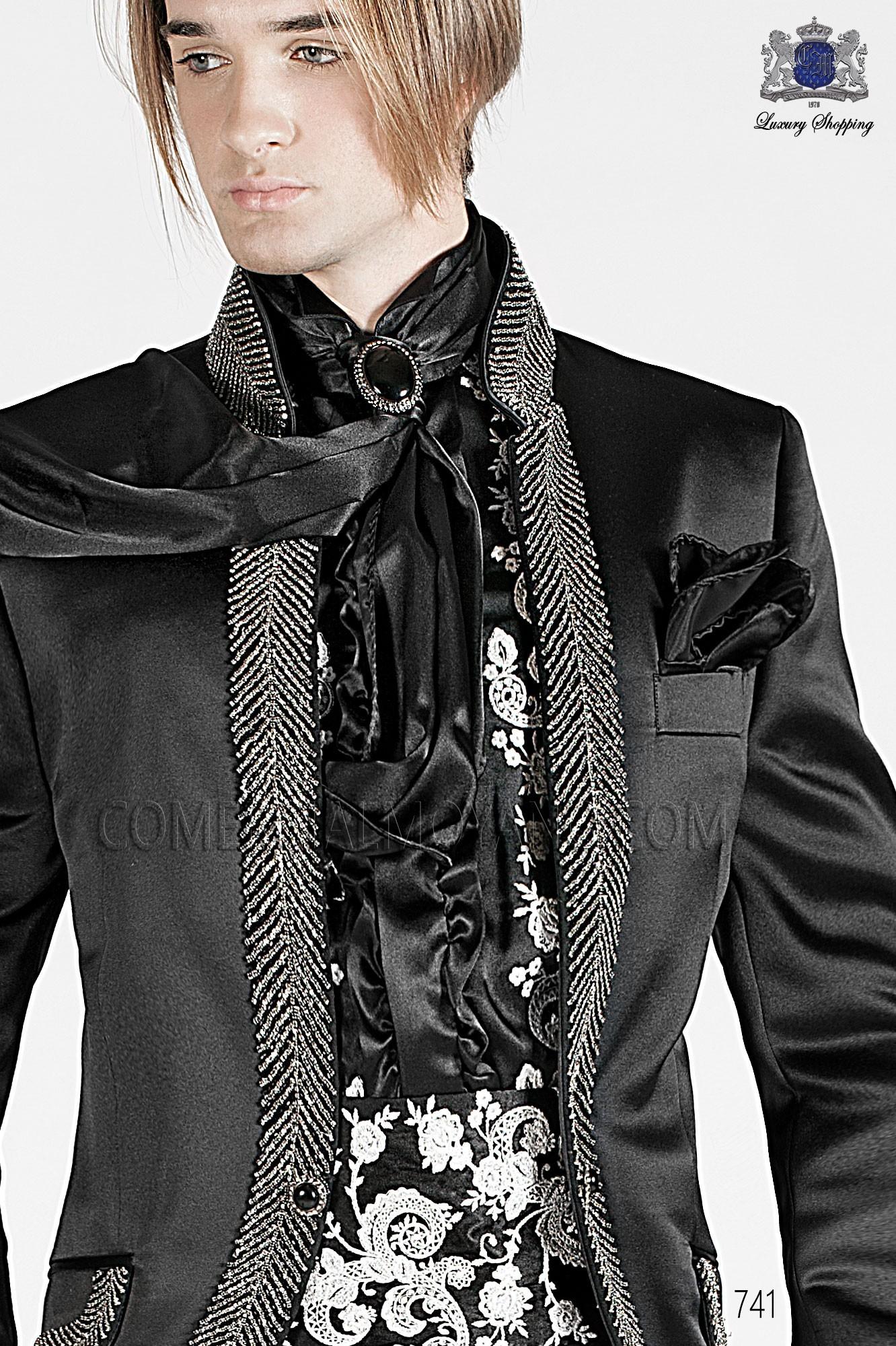 Traje barroco de novio negro modelo: 741 Ottavio Nuccio Gala colección Barroco