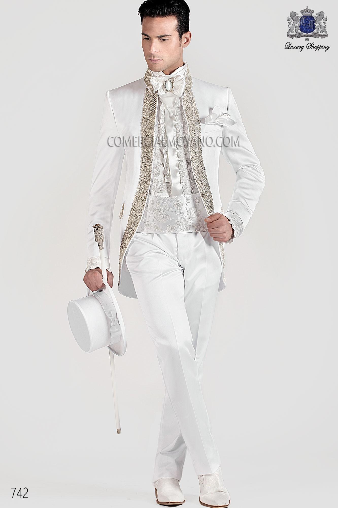 Traje de novio barroco blanco modelo: 742 Ottavio Nuccio Gala colección Barroco