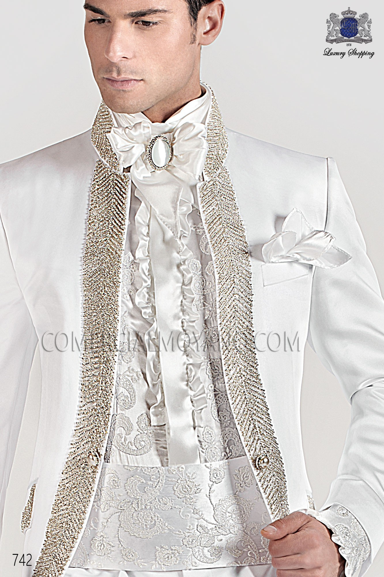 Baroque white men wedding suit, model: 742 Ottavio Nuccio Gala ...