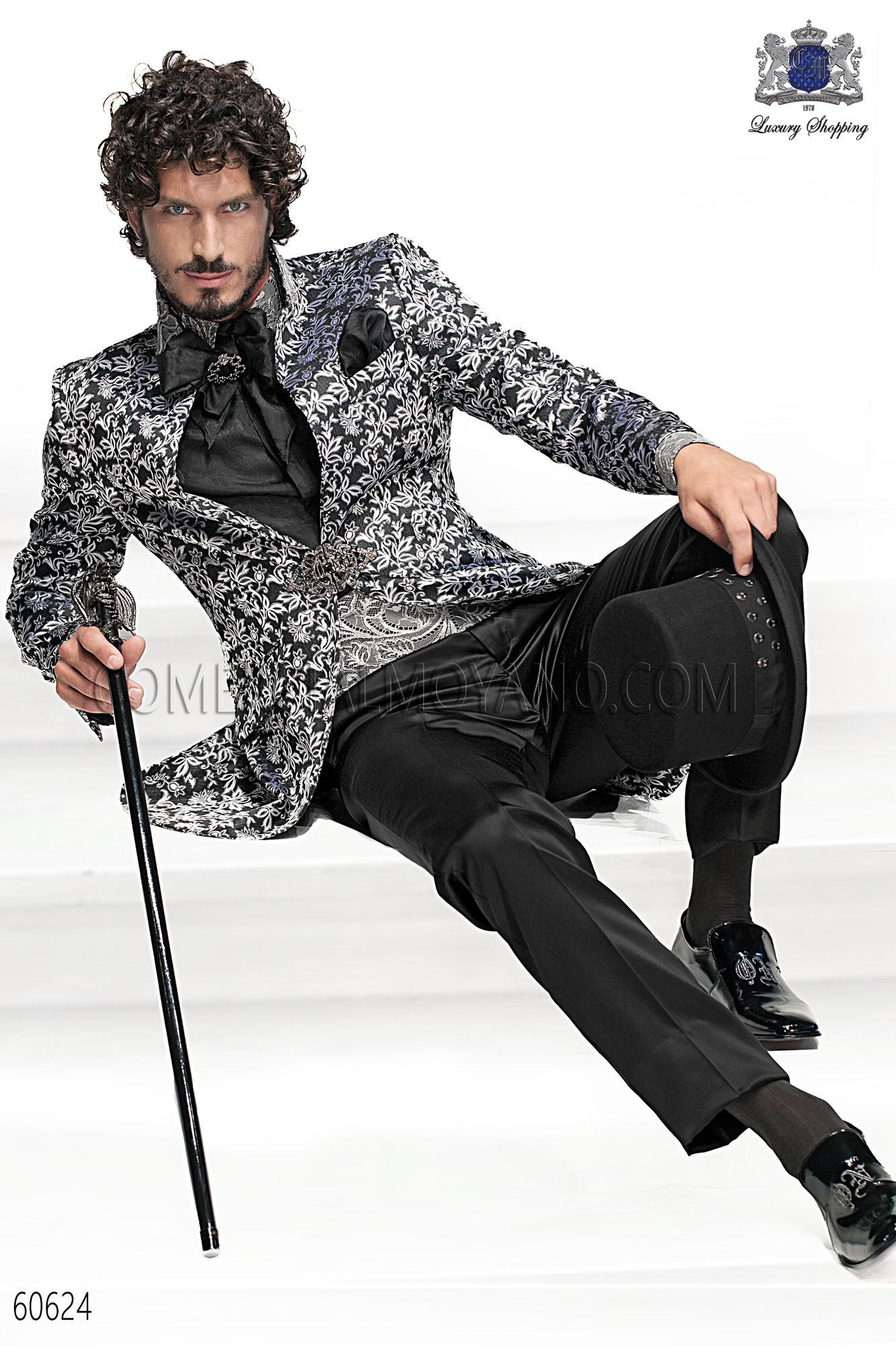 Traje de novio barroco negro-plata modelo: 60624 Ottavio Nuccio Gala colección Barroco