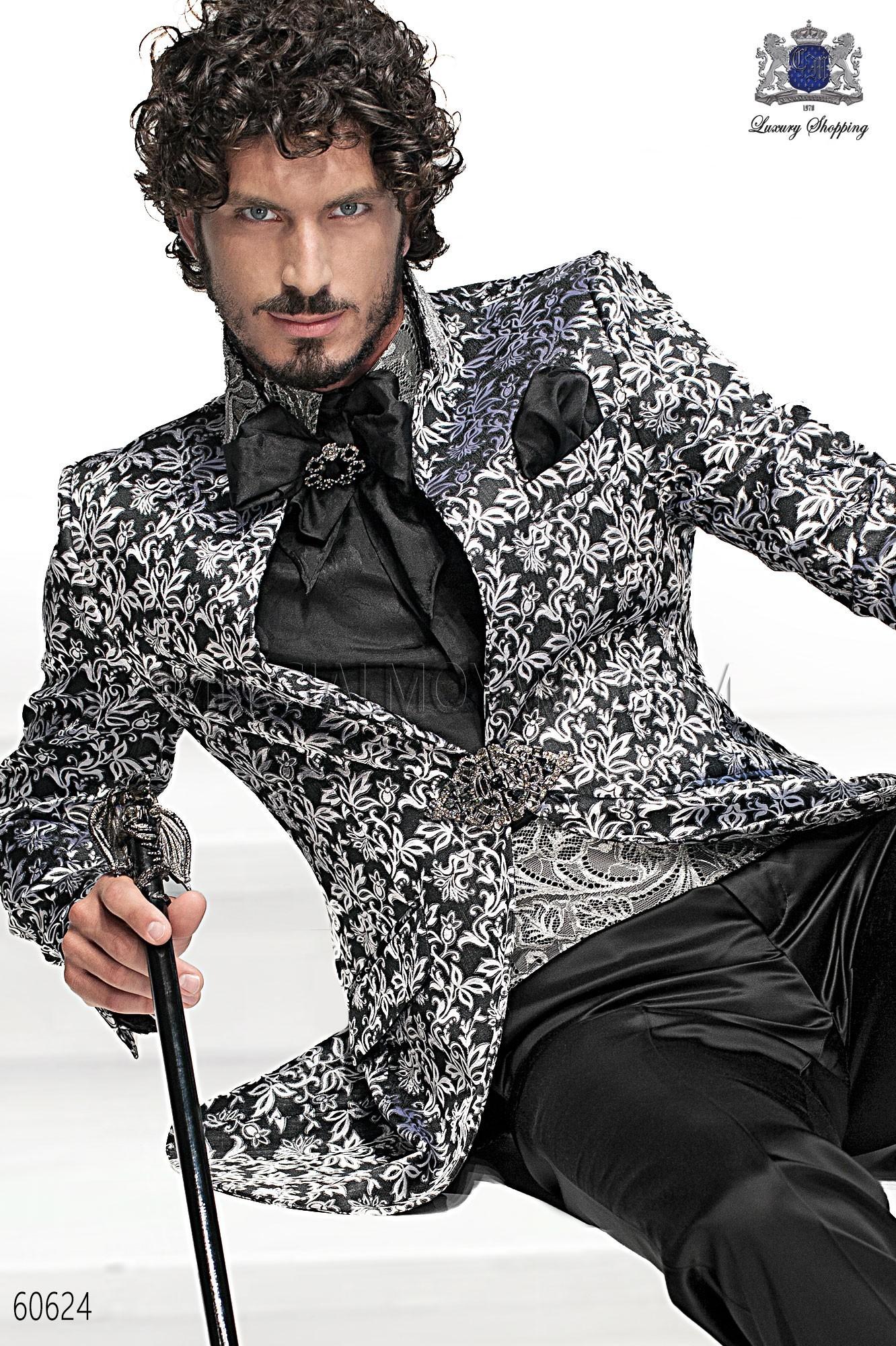 Traje barroco de novio negro-plata modelo: 60624 Ottavio Nuccio Gala colección Barroco