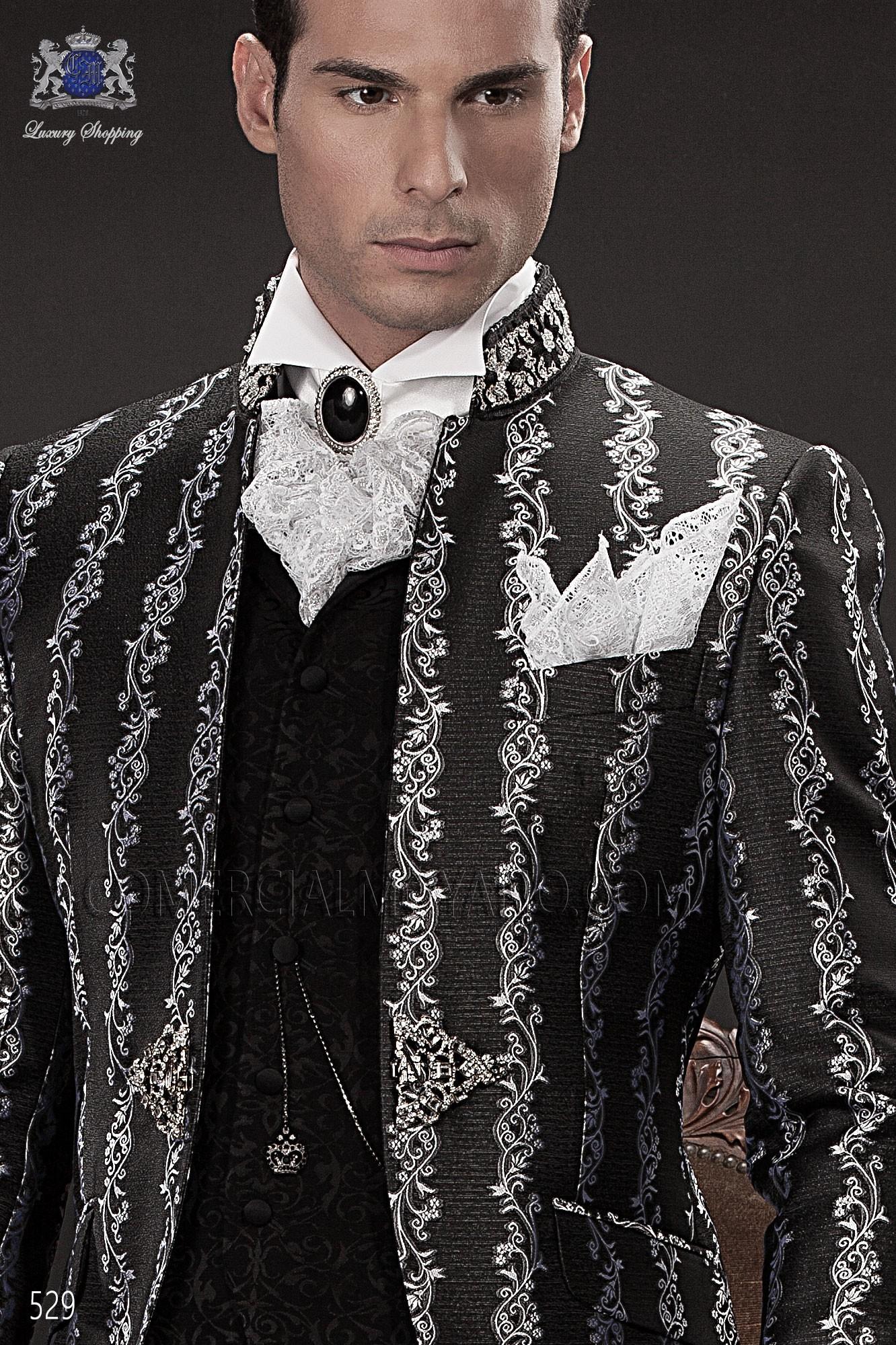 Traje barroco de novio plata y negro modelo: 529 Ottavio Nuccio Gala colección Barroco