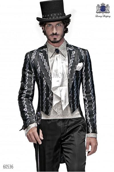Traje de novio barroco negro-plata modelo 60536 Ottavio Nuccio Gala colección Barroco