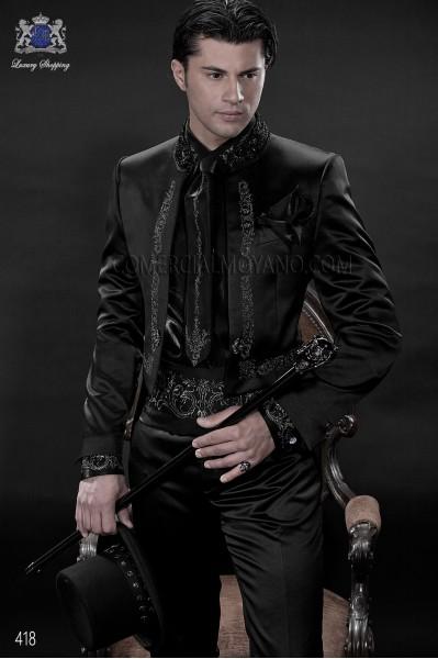 Traje de novio barroco negro modelo 418 Ottavio Nuccio Gala colección Barroco