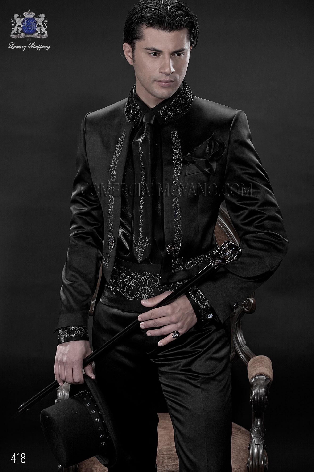 Traje de novio barroco negro modelo: 418 Ottavio Nuccio Gala colección Barroco