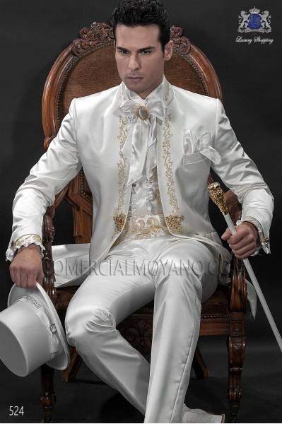 Traje de novio barroco blanco modelo 524 Ottavio Nuccio Gala colección Barroco