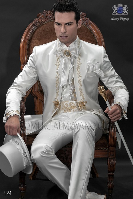 Italian bespoke white wedding suit style 524 Ottavio Nuccio Gala.