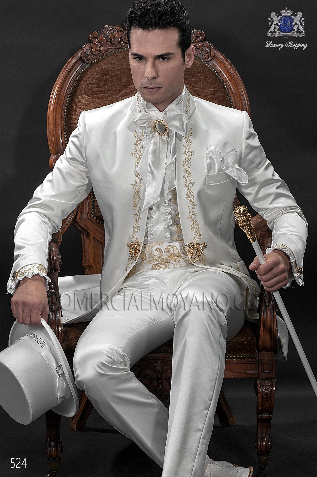 Traje de novio barroco blanco modelo: 524 Ottavio Nuccio Gala colección Barroco
