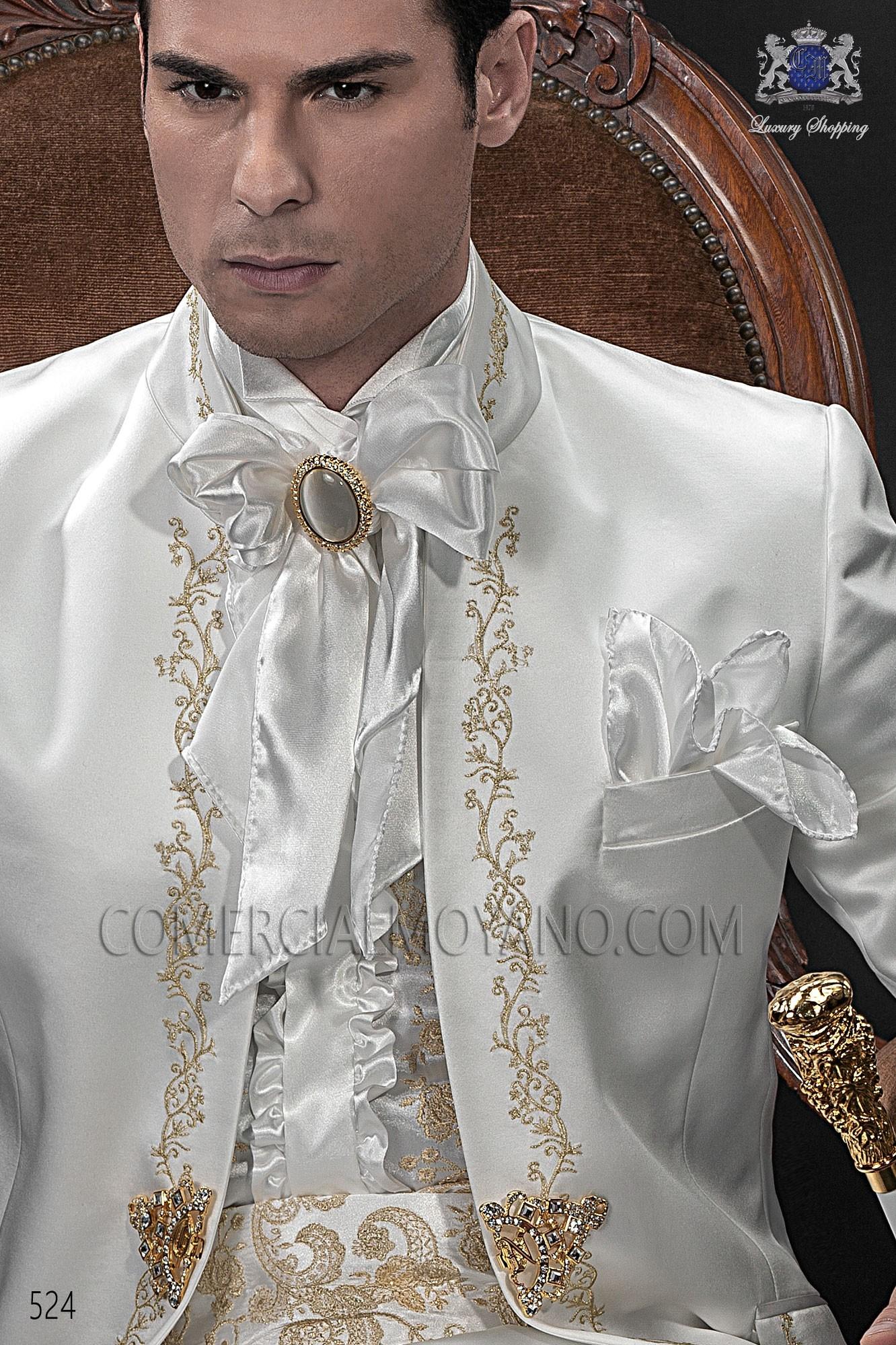 Traje barroco de novio blanco modelo: 524 Ottavio Nuccio Gala colección Barroco