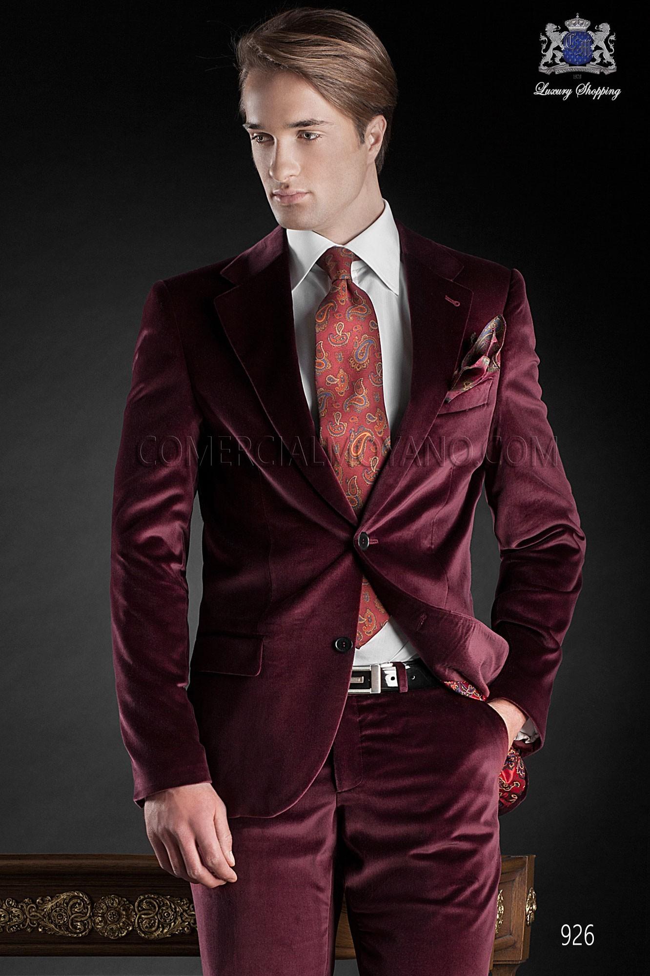 Black Tie red men wedding suit model 926 Ottavio Nuccio Gala