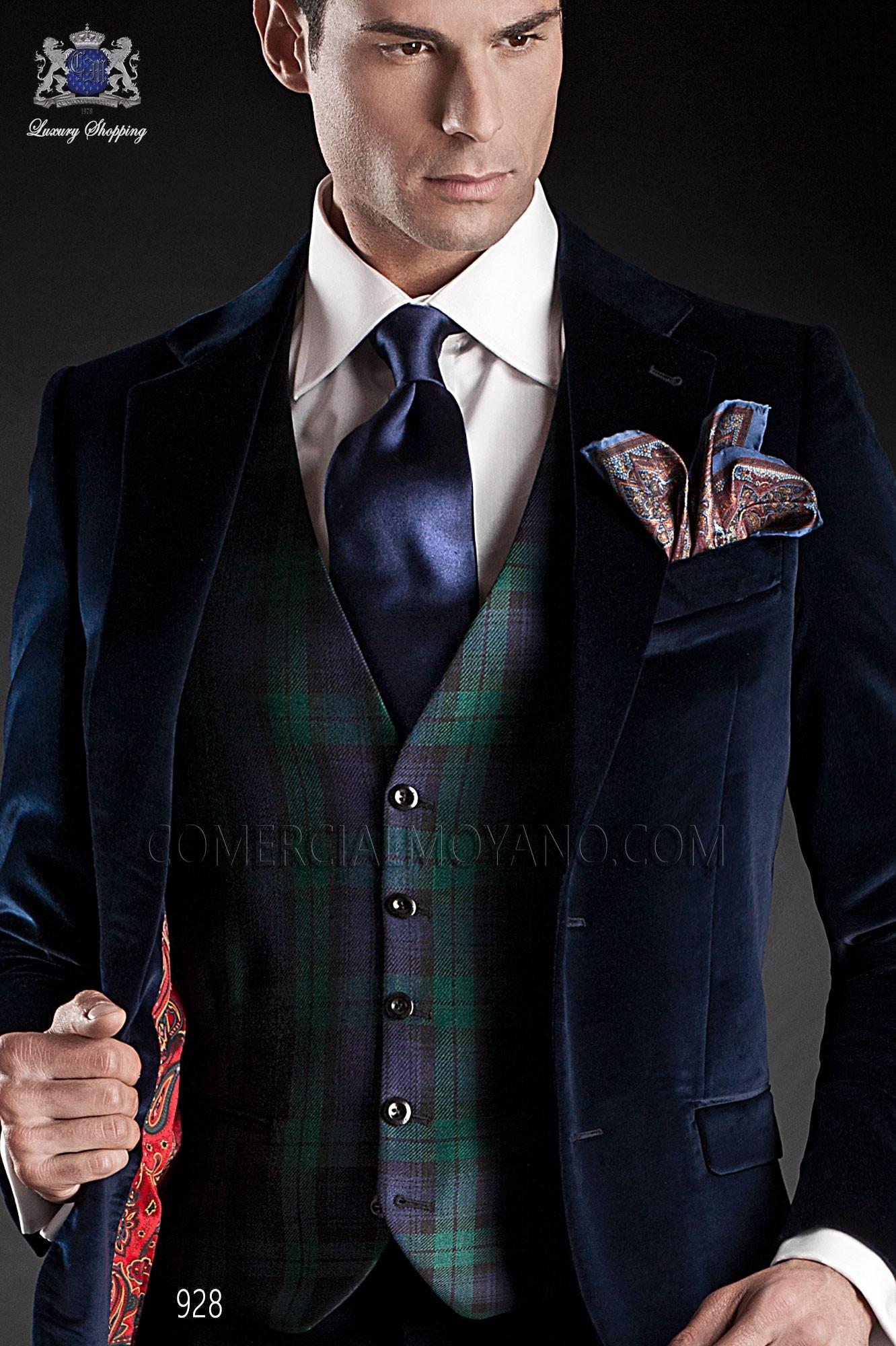 Italian blacktie blue men wedding suit, model: 928 Ottavio Nuccio Gala Black Tie Collection