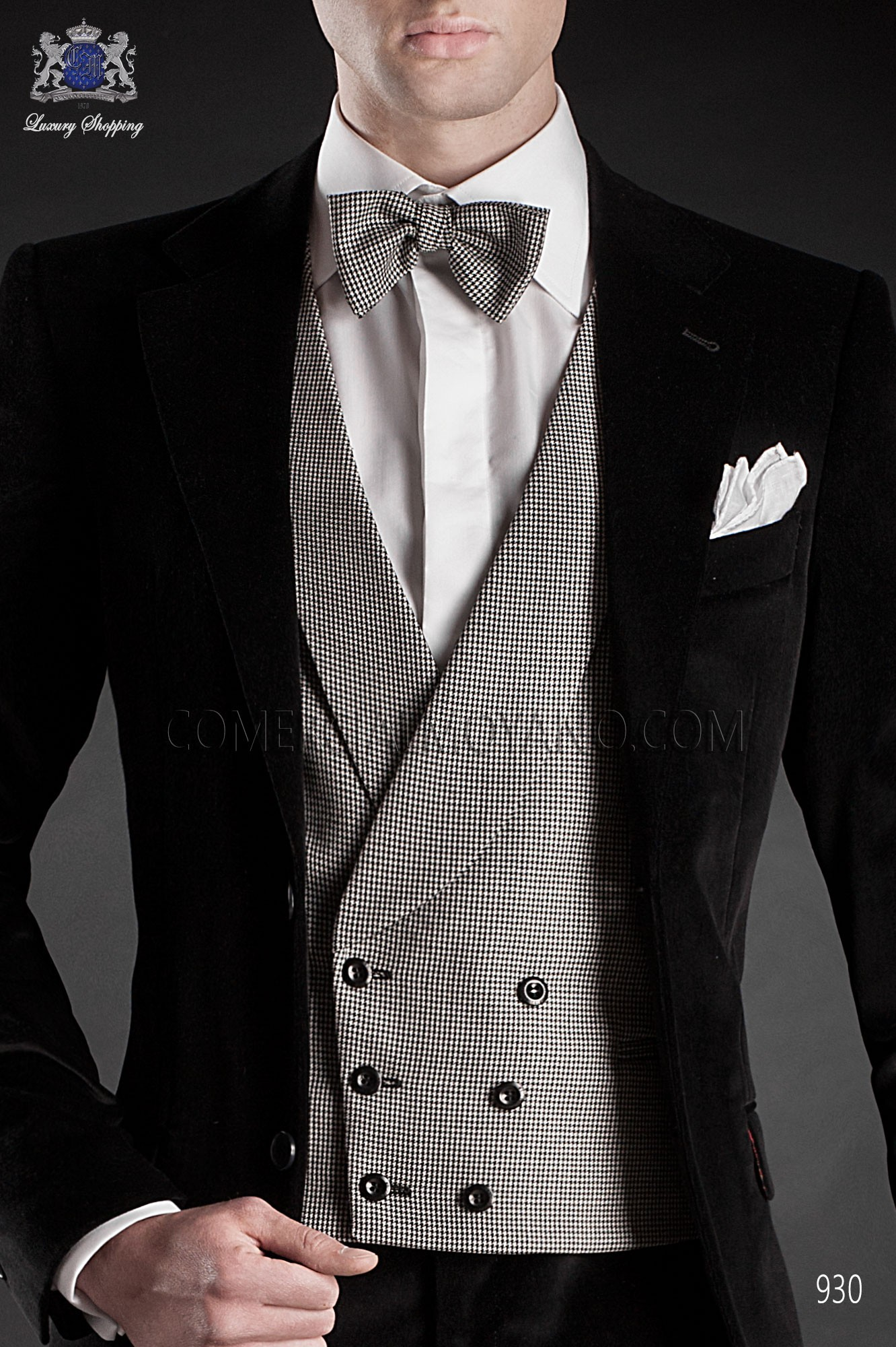 Italian blacktie black men wedding suit, model: 930 Ottavio Nuccio Gala Black Tie Collection