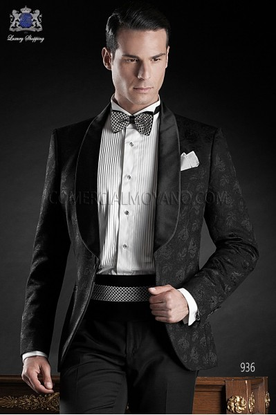 Italian blacktie black men wedding suit style 936 Ottavio Nuccio Gala