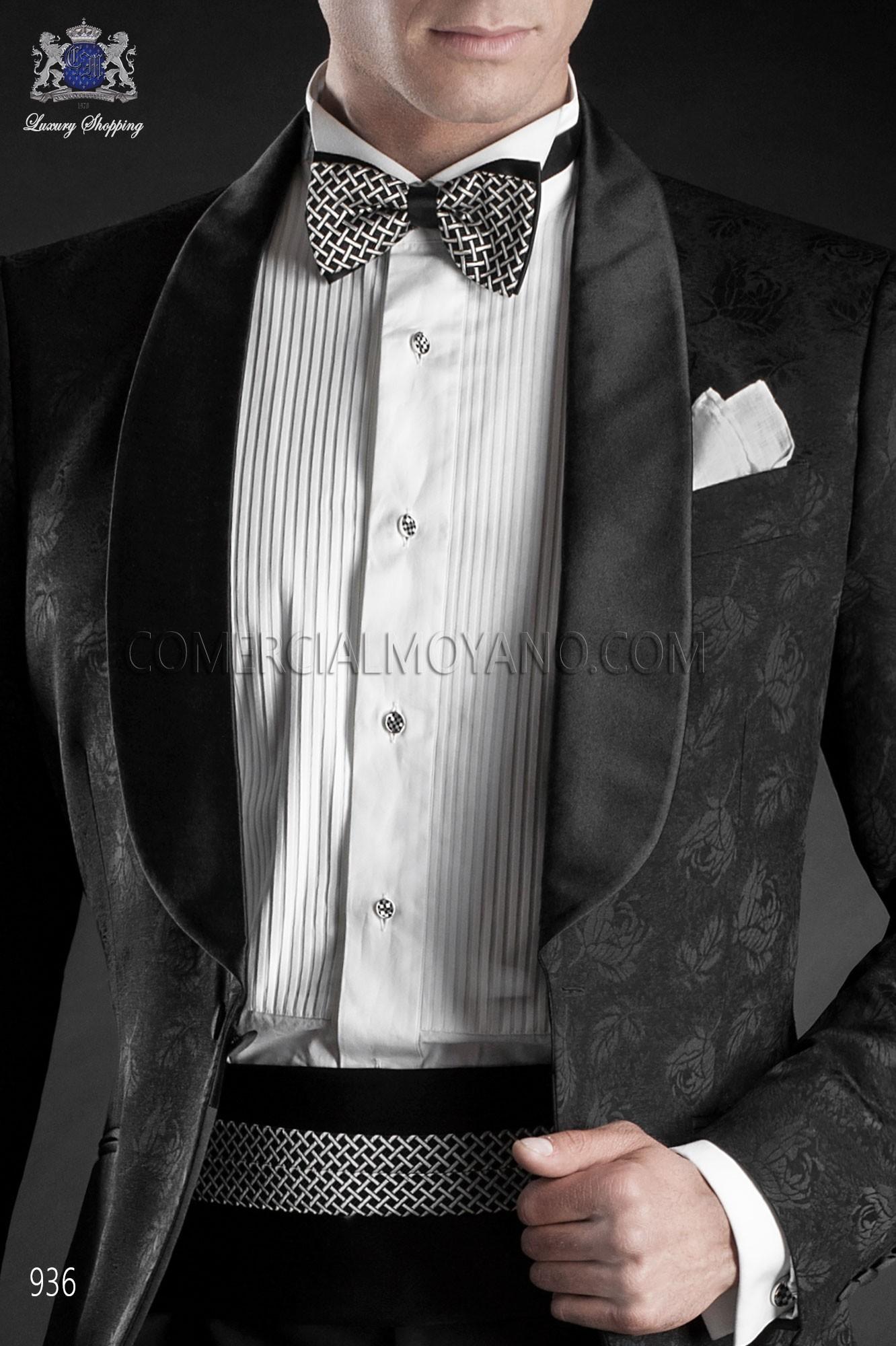 Traje BlackTie de novio negro modelo: 936 Ottavio Nuccio Gala colección Black Tie 2017