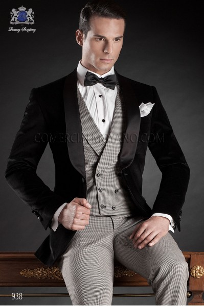 Italian blacktie black men wedding suit style 938 Ottavio Nuccio Gala