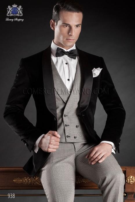Italian black wedding tuxedo