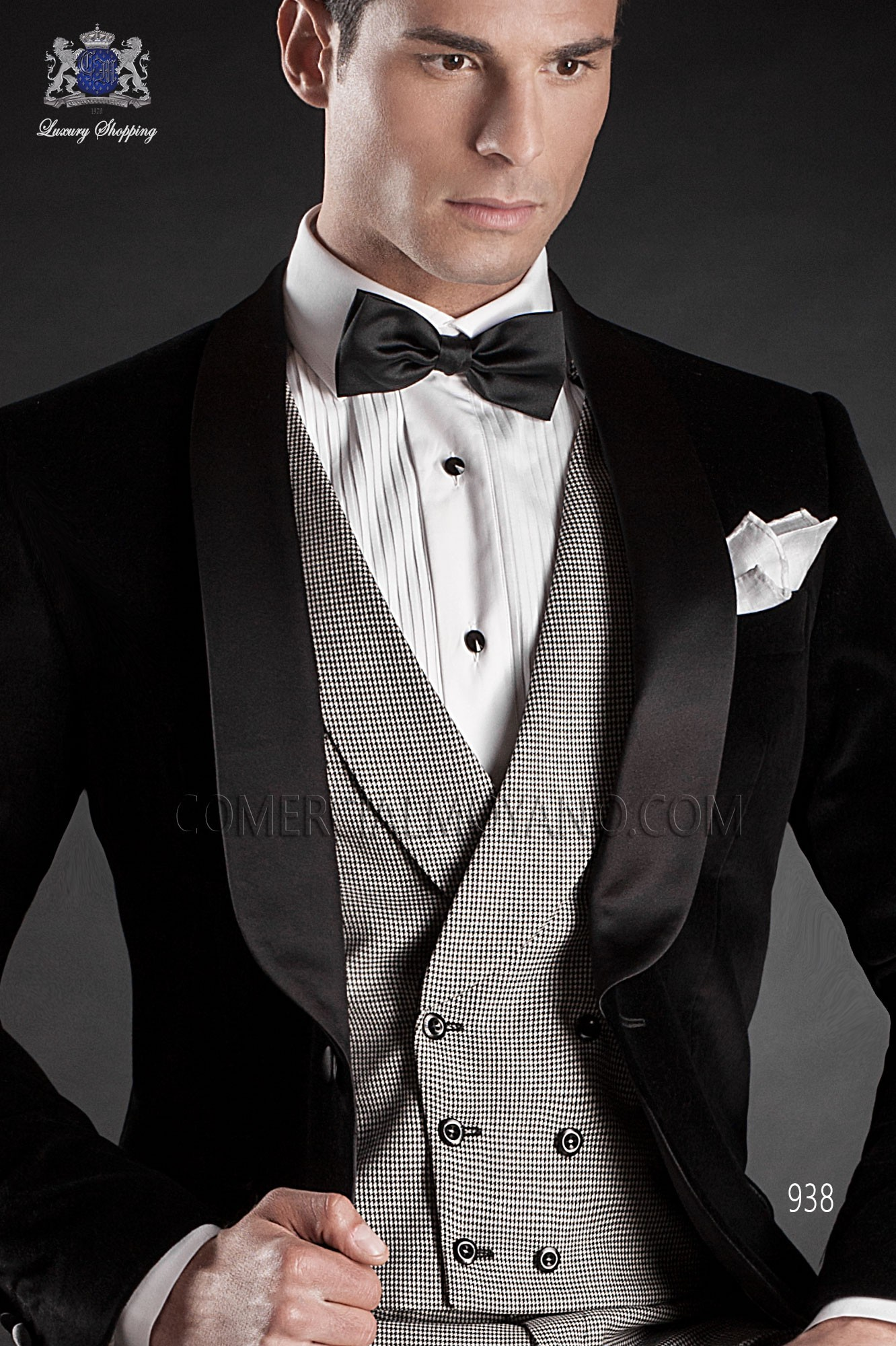 Italian blacktie black men wedding suit, model: 938 Ottavio Nuccio Gala Black Tie Collection
